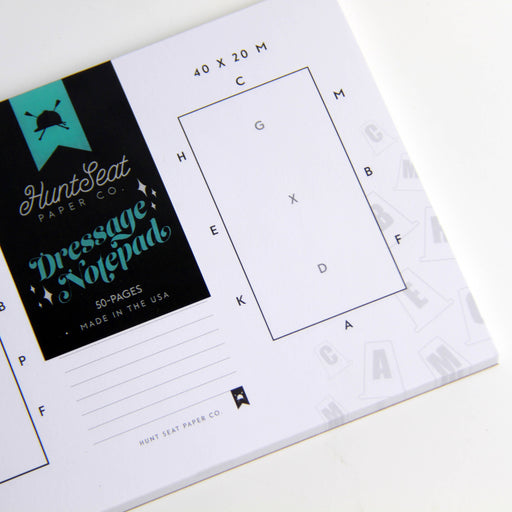 Dressage Notepad - Equestrian Study Accessory