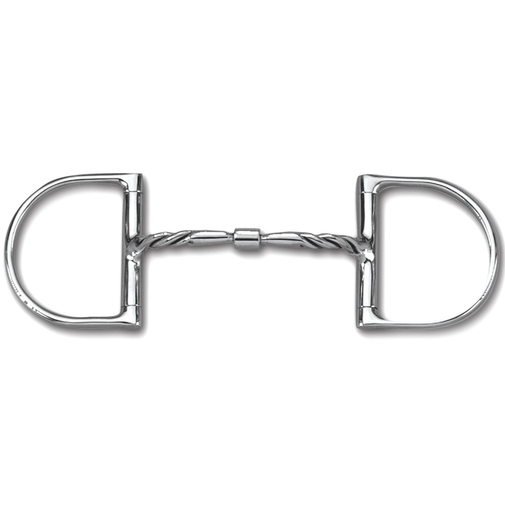 Myler Dee without Hooks MB 01T Twisted Comfort Snaffle with Narrow Barrel