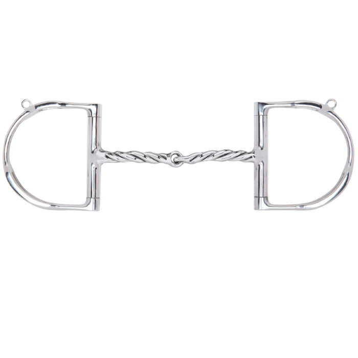 Myler Dee with Hooks with Stainless Steel Twisted Snaffle MB 09T
