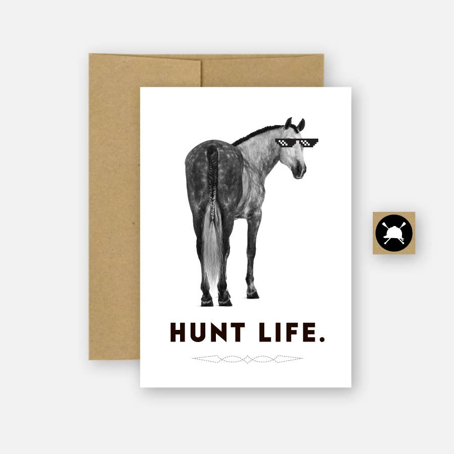 Hunt Life Equestrian Horse Greeting Card