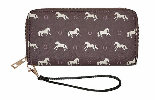 Lila Horses and Horseshoes Wallet