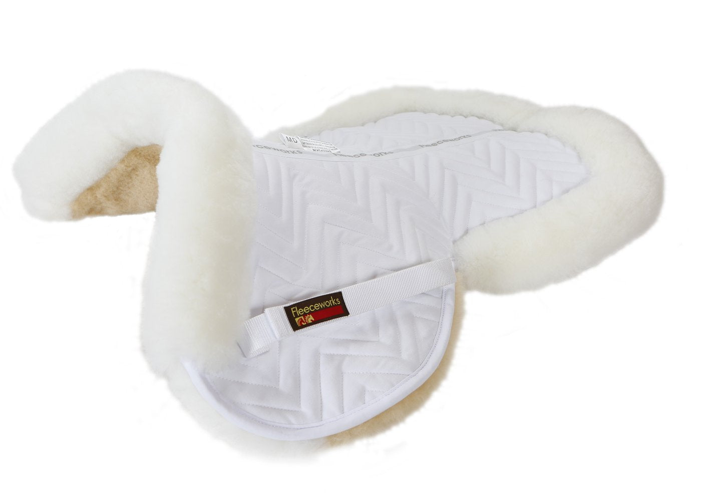 Fleeceworks Sheepskin Classic Half Pad With Rolled Edge