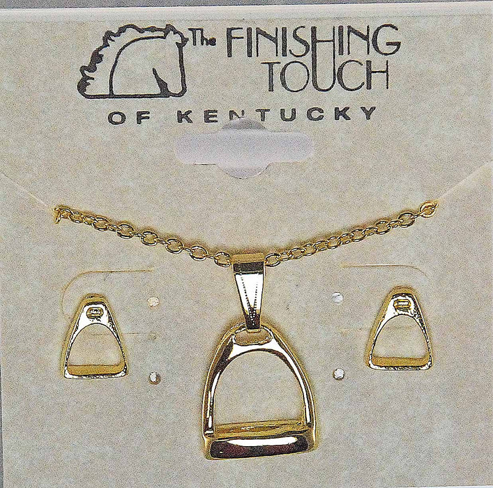 Stirrup Earrings and Necklace Gift Set