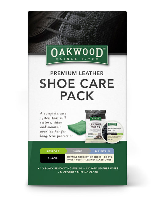 Oakwood Premium Leather Shoe Care Pack