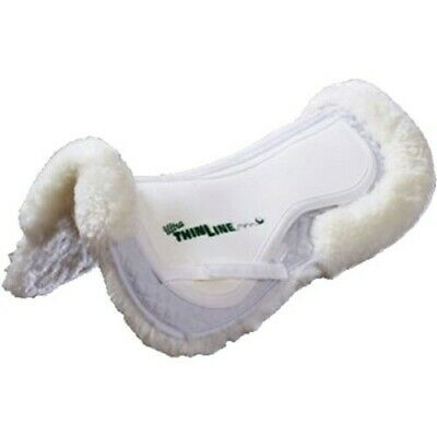 Full Sheepskin Trifecta Correction Half Saddle Pad-Medium-White
