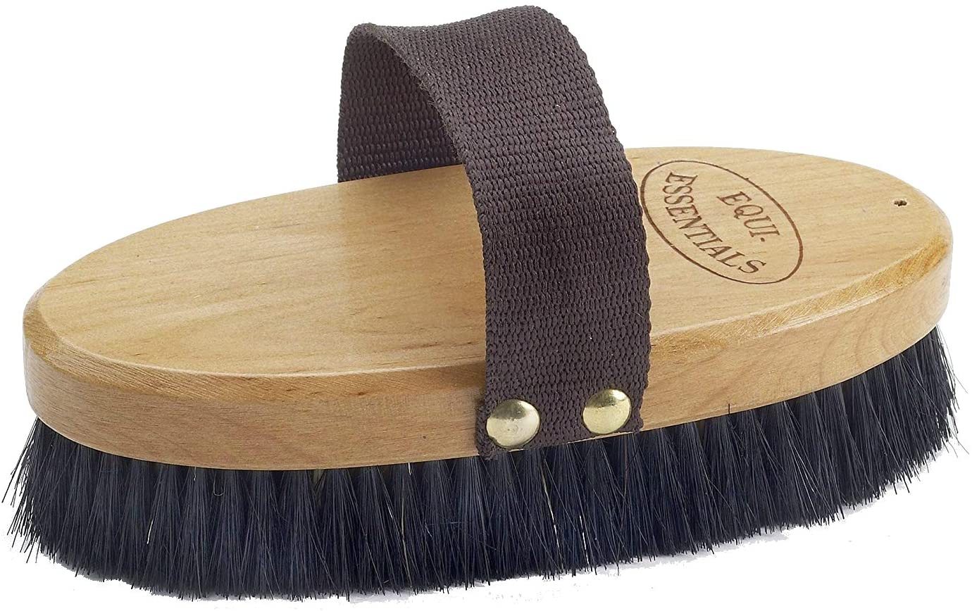 Large Wood Back Body Brush with Horse Hair