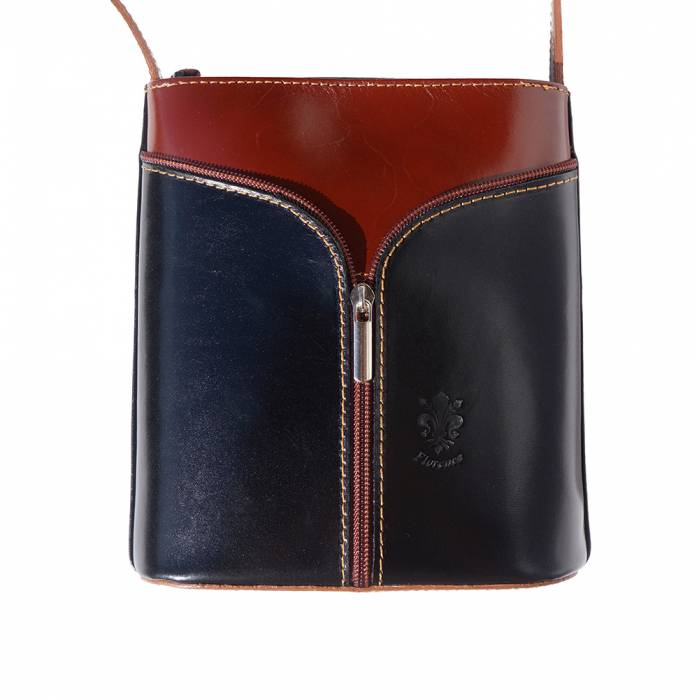 Small Cross-body, Two-Tone with 'V' Front [Ready to Ship]