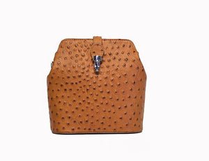 Cross-body in Ostrich Print Leather