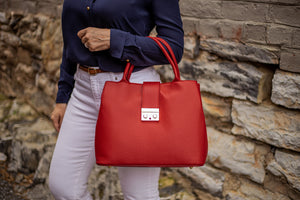 Timeless Tote with Latch Accent  [Ready to Ship]