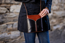 Load image into Gallery viewer, Small Cross-body, Two-Tone with 'V' Front [Ready to Ship]