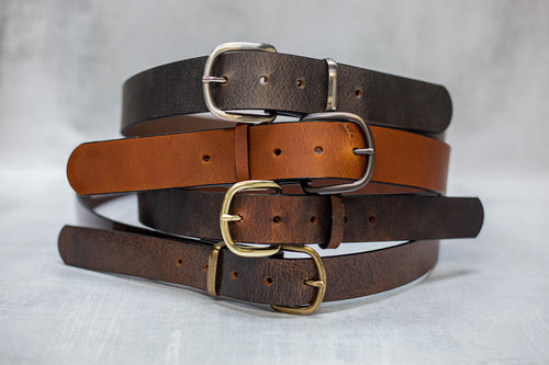 Water Buffalo Leather Belt, 1-1/4