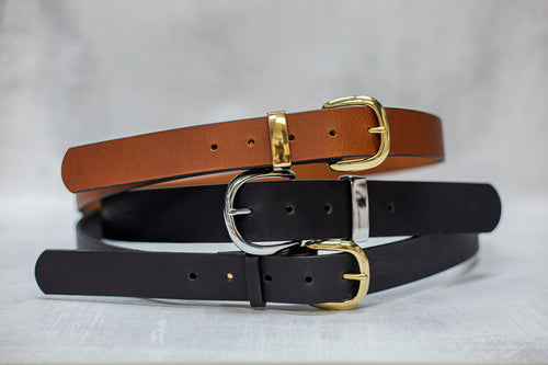 Water Buffalo Leather Belt, 1-1/2