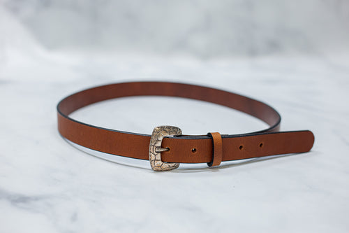Water Buffalo Leather Belt, 1