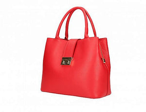 Timeless Tote with Latch Accent