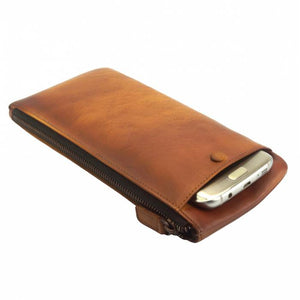 Versatile Long Wallet, Distressed Leather (Unisex)