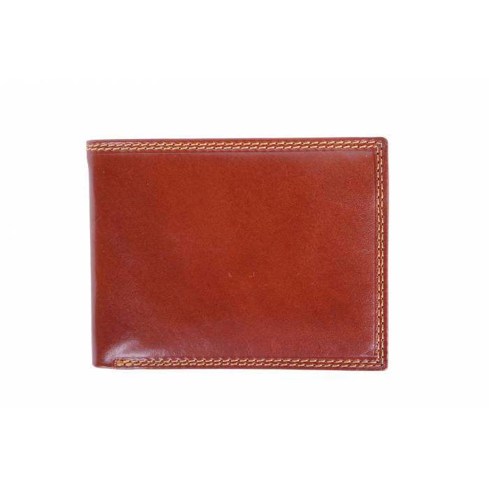 Rigid Bi-Fold Wallet with Flip-up Flap (RIGHT)