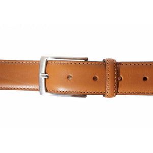 "Italian Leather Dress Belt, Single Stitched, 1-1/4"" wide"