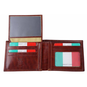 Rigid Bi-Fold Wallet with Flip-up Flap (LEFT)