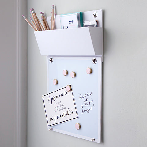 Wall Pocket With Connecting Magnetic Dry Erase Board
