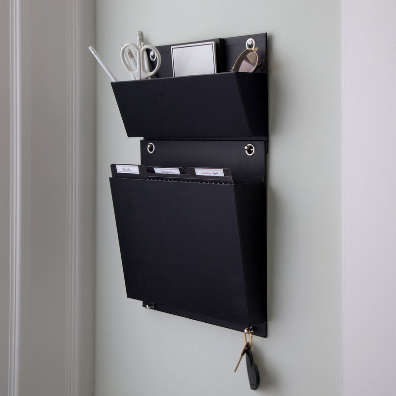See Jane Work® Wall System Caddy, Black - see-jane-work