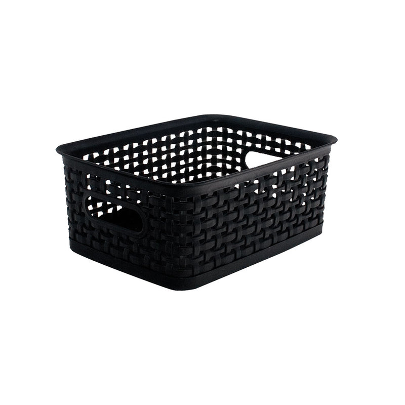 See Jane Work® Weave Bin Small, Black - see-jane-work