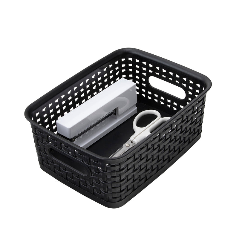 See Jane Work® Weave Bin Small, Black