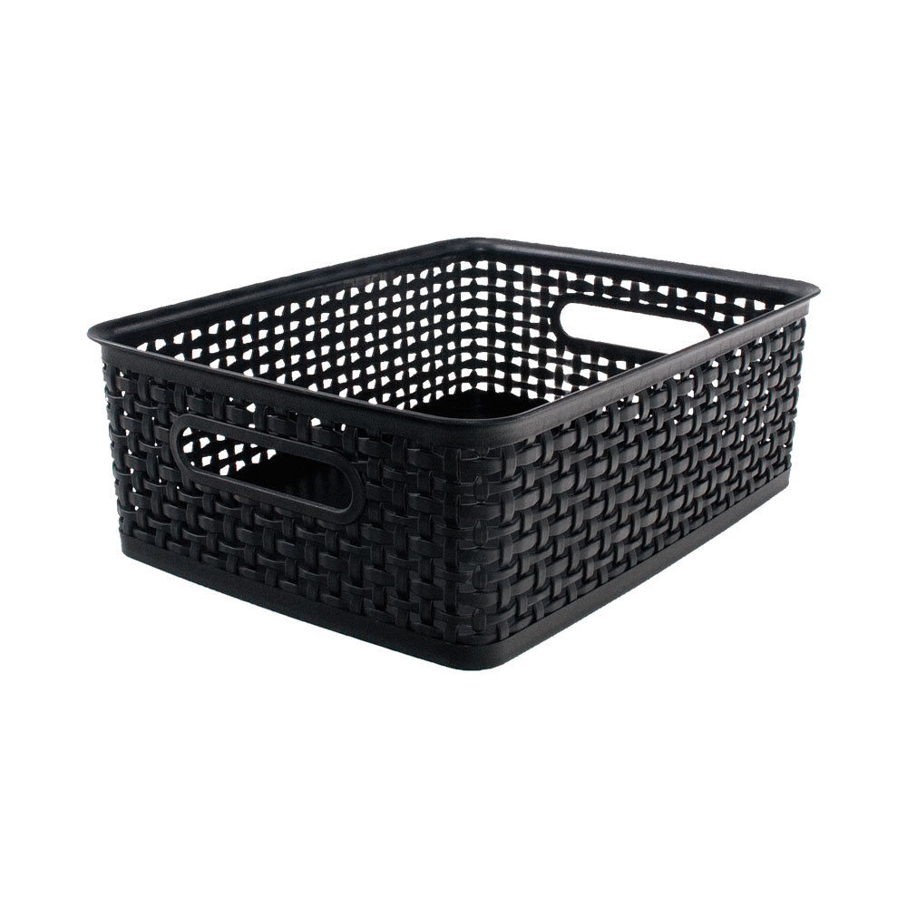 See Jane Work® Weave Bin Medium, Black - see-jane-work