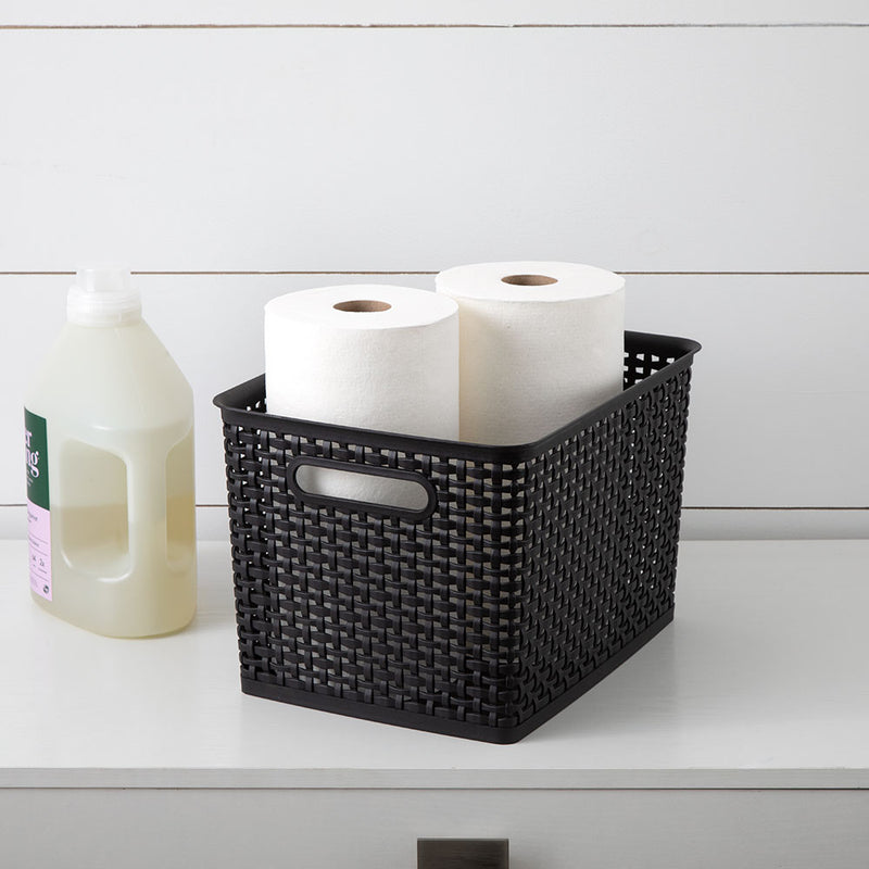 See Jane Work® Weave Bin Large, Black