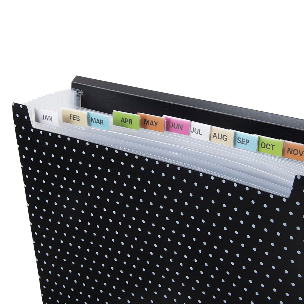 See Jane Work® Expandable 13 Pocket File, Black Dot