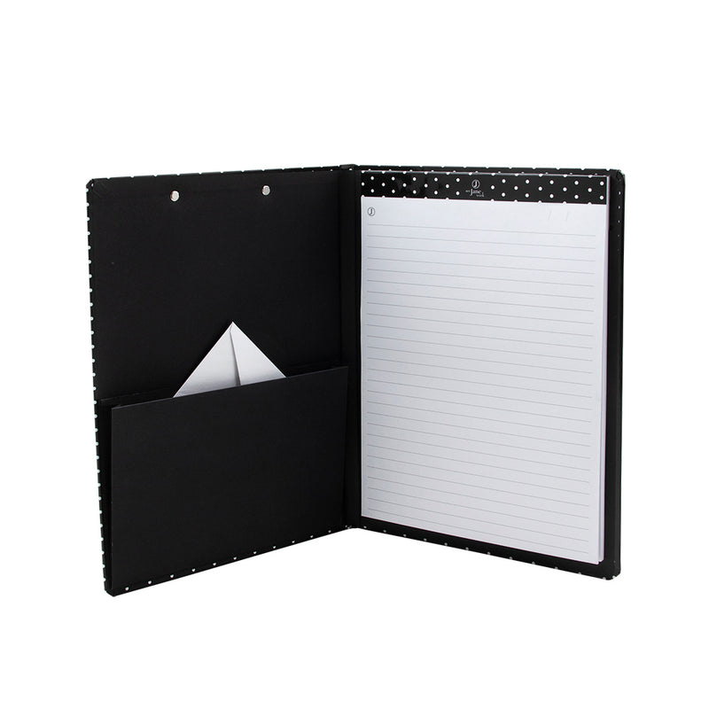 See Jane Work® Clipboard Padfolio, Black Dot