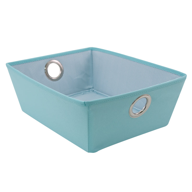 See Jane Work® Fabric Bin,  Blue - see-jane-work