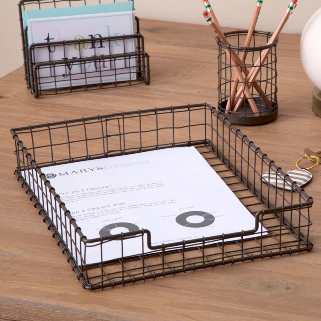 See Jane Work® Wire Letter Tray - see-jane-work