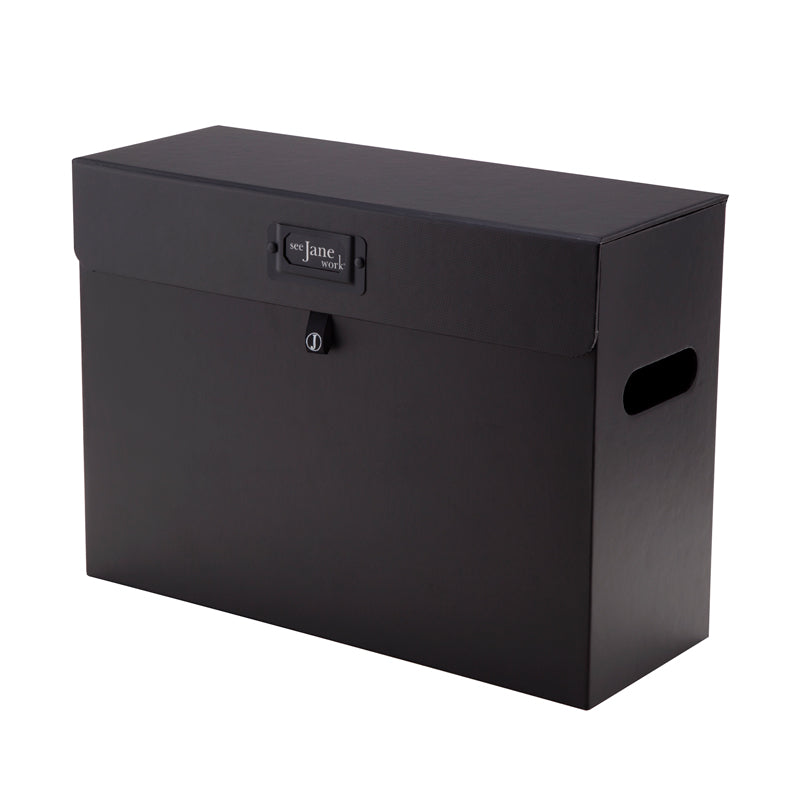 See Jane Work® File Box, Black - see-jane-work