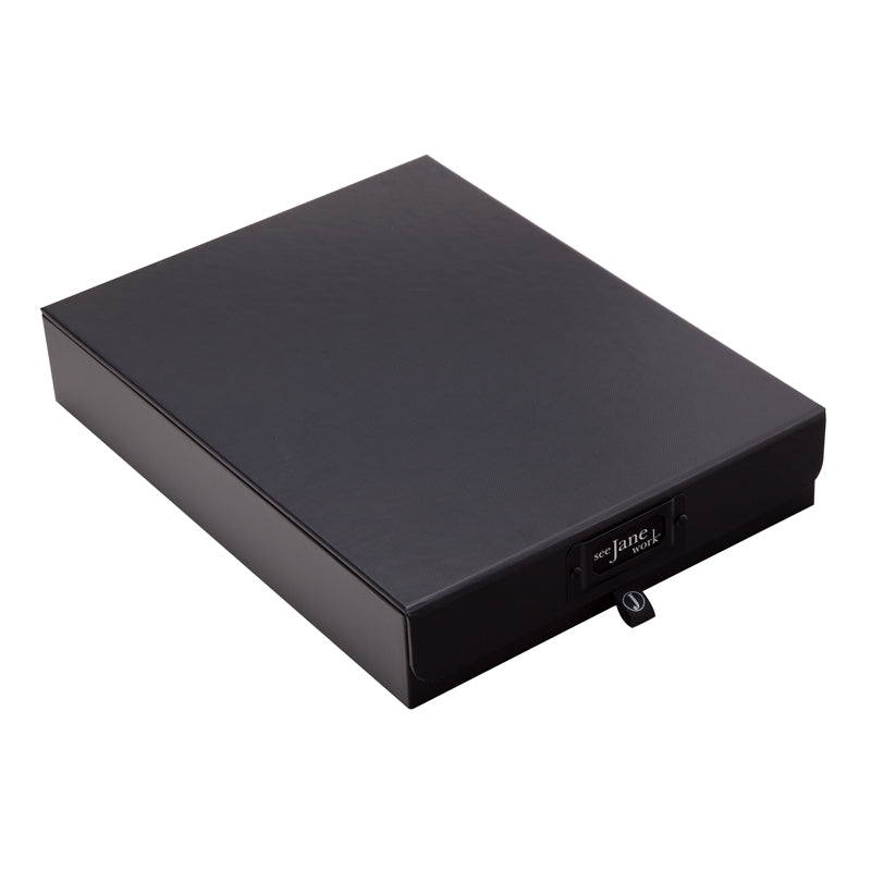 See Jane Work® Document Box, Black - see-jane-work