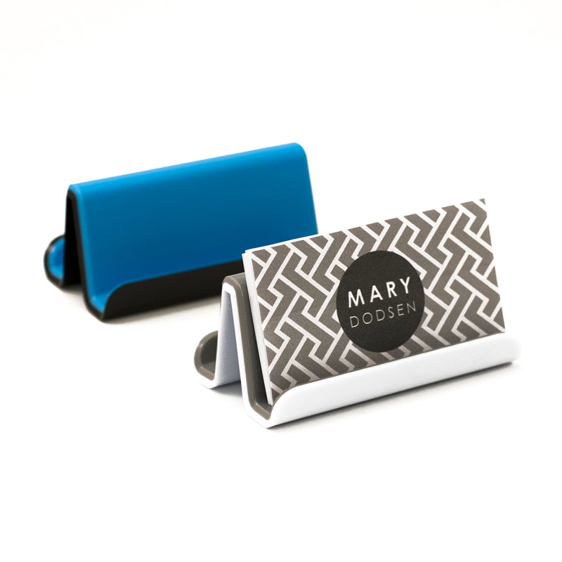 Fusion Business Card Holder - White and Gray - see-jane-work