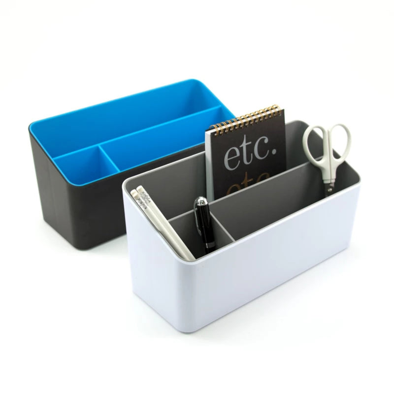 Fusion Desk Organizer - White and Gray - see-jane-work