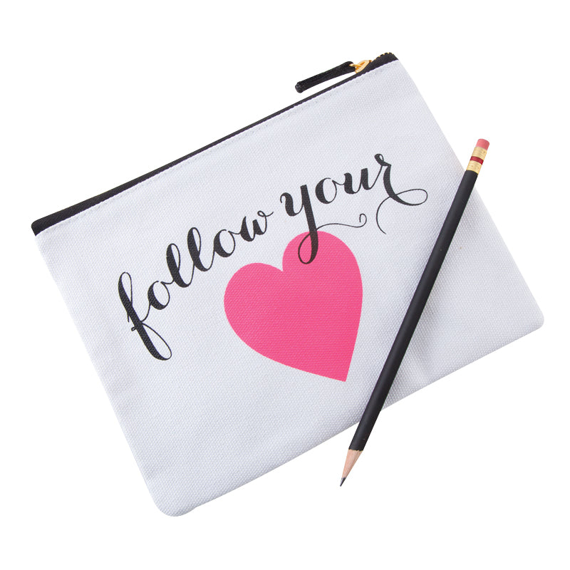 See Jane Work® Pouch, Follow Your Heart - see-jane-work