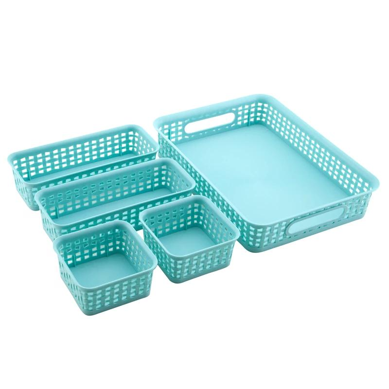 See Jane Work® 5 Pack Weave Bins - Blue - see-jane-work
