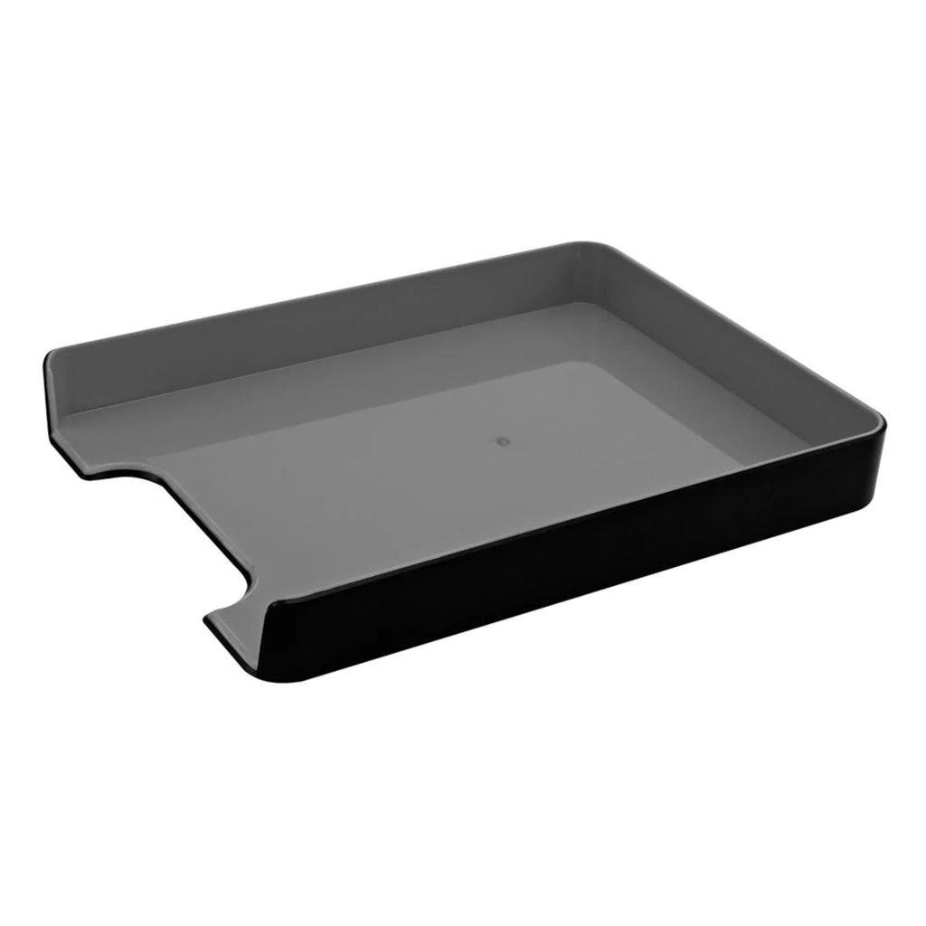 Fusion Letter Tray - Black and Gray - see-jane-work