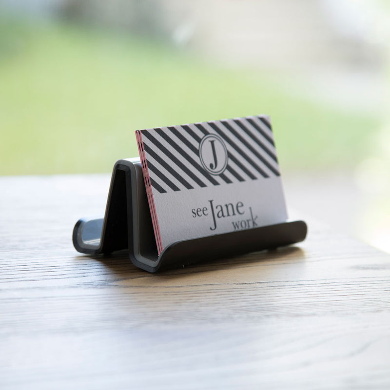Fusion Business Card Holder - Black and Gray - see-jane-work