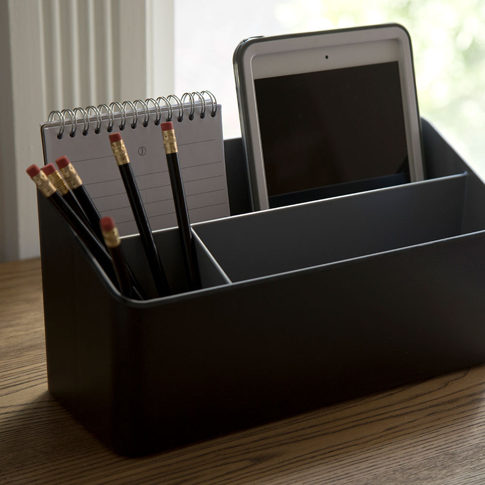 Fusion Desk Organizer - Black and Gray - see-jane-work