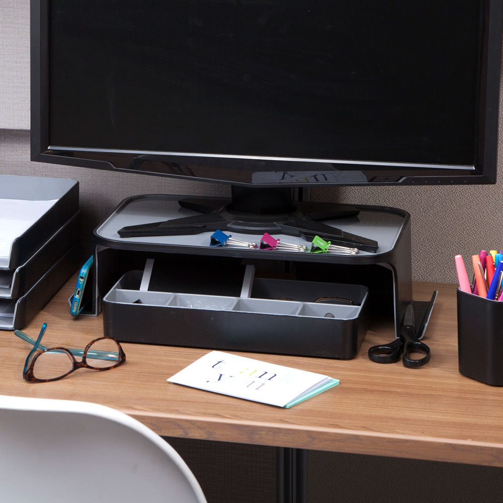 Fusion Monitor Stand - Black and Gray - see-jane-work