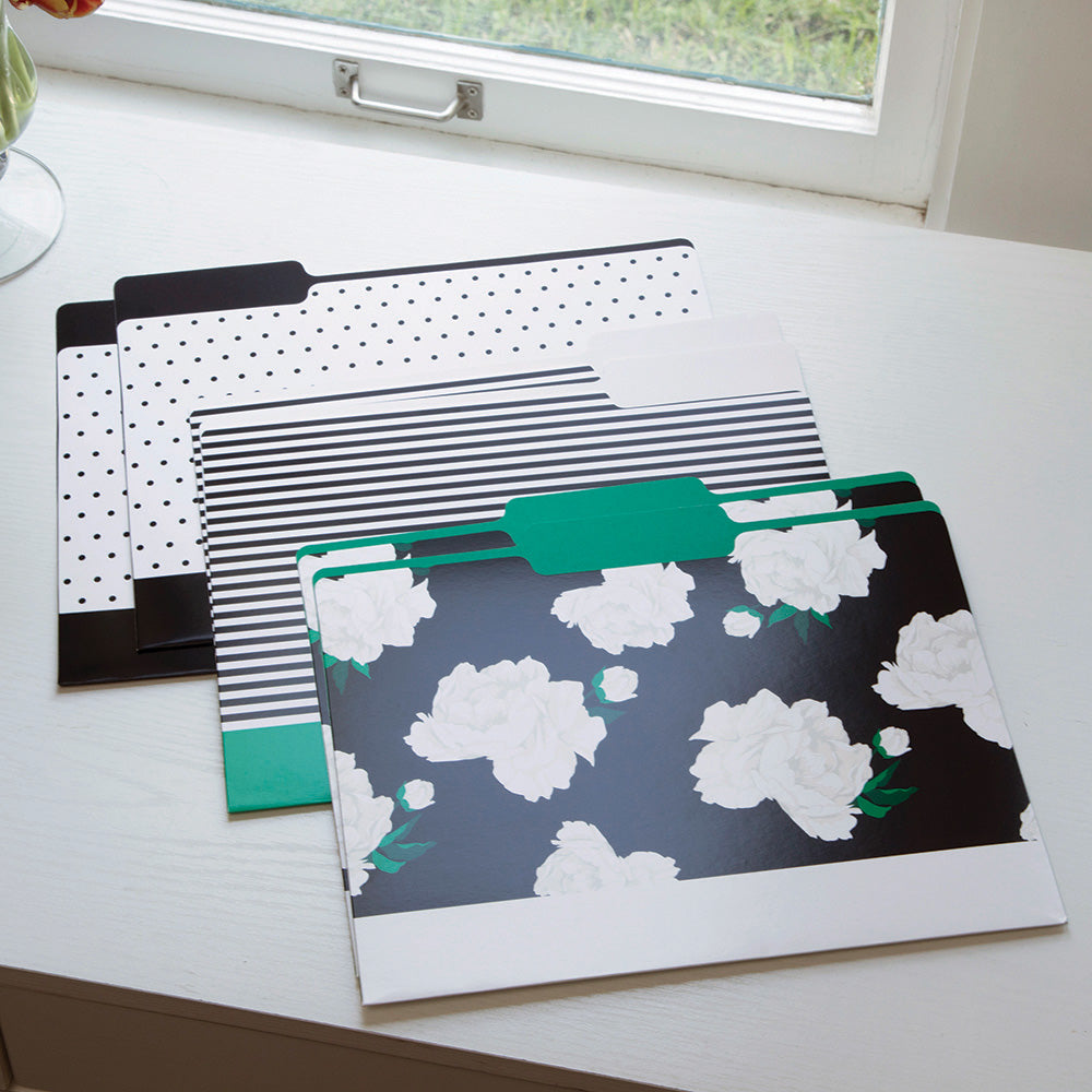 See Jane Work® File Folders, Floral Dot - see-jane-work