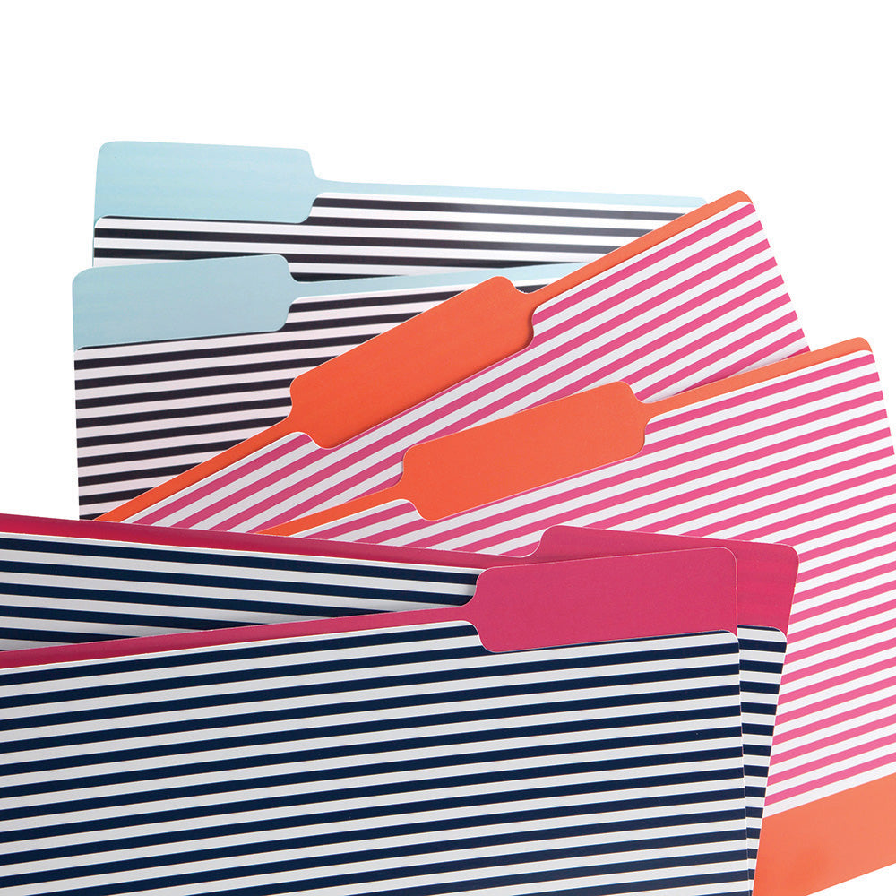 See Jane Work® File Folders, Colorful Stripe - see-jane-work