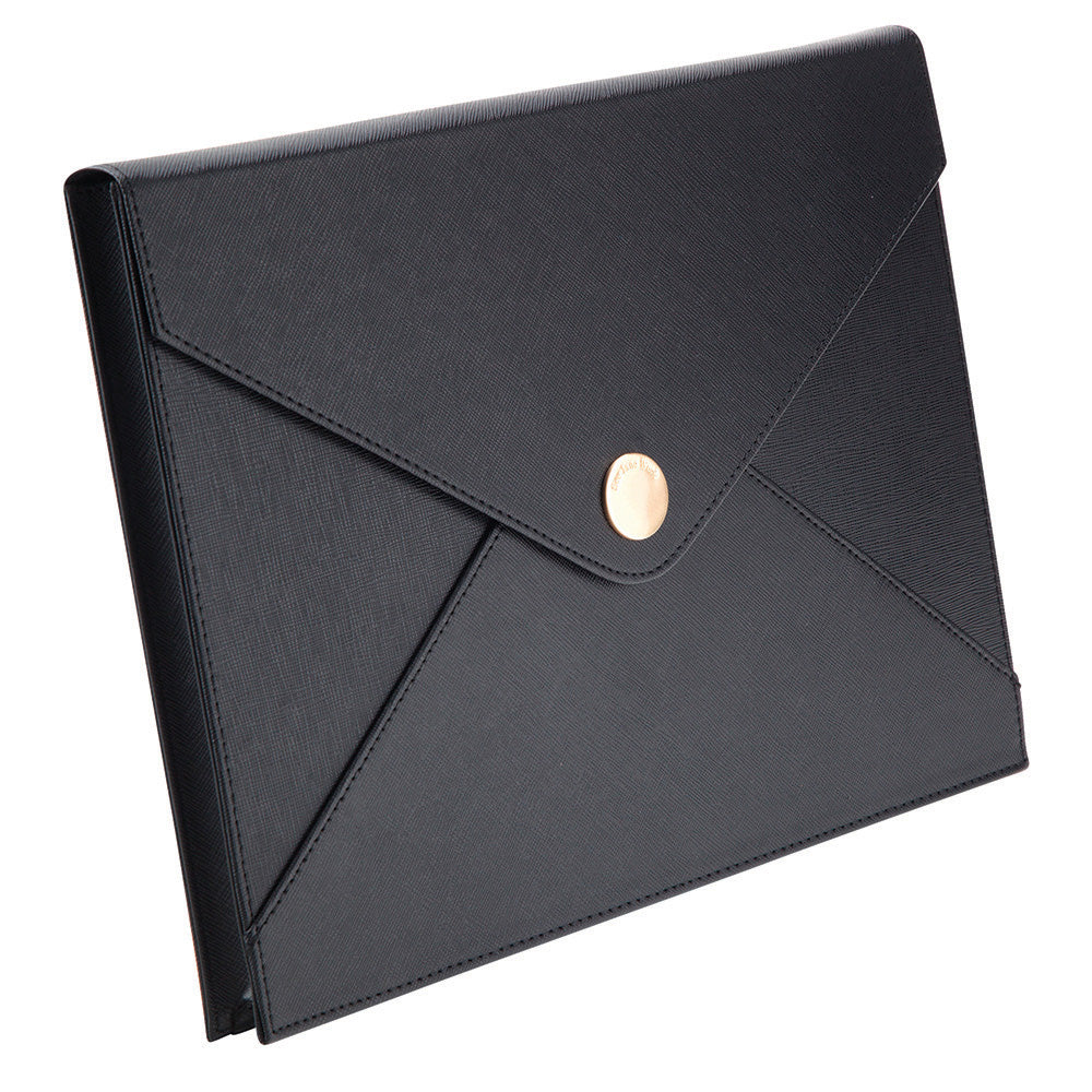 See Jane Work® Black Faux Leather Document Pouch - see-jane-work