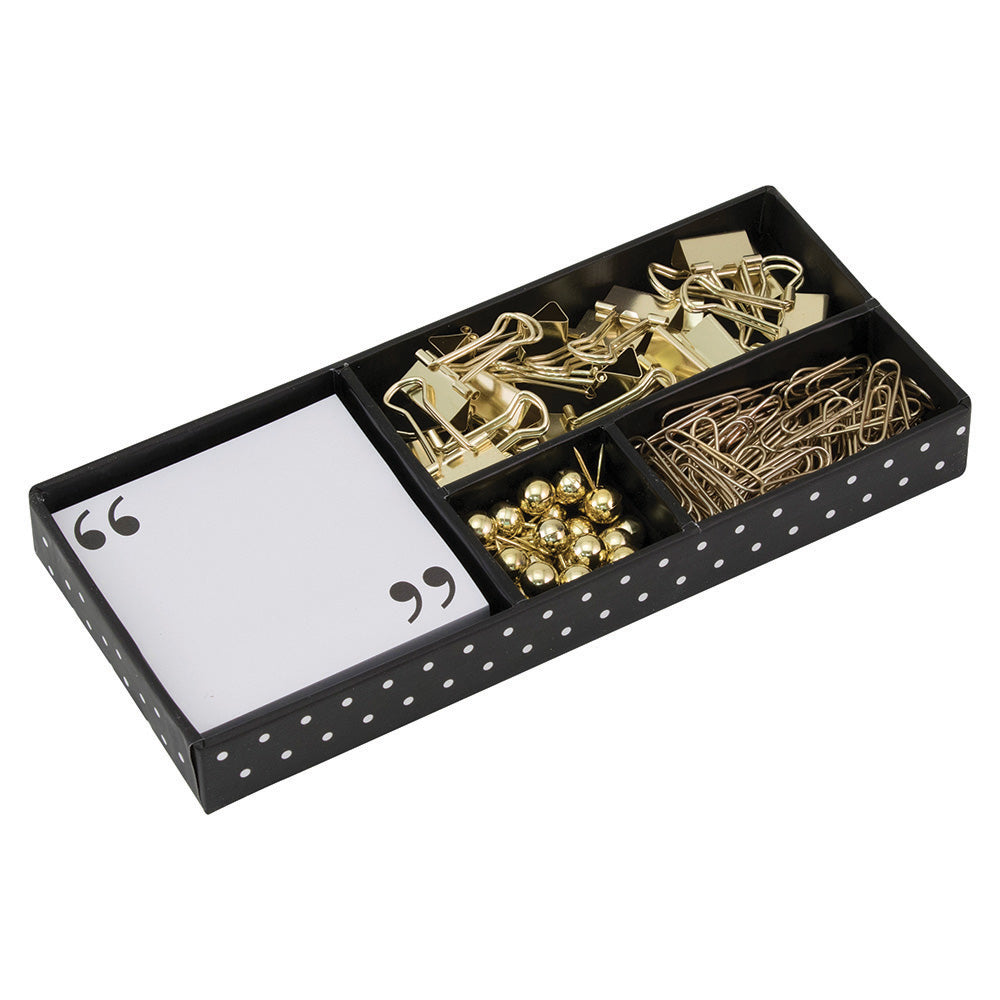 See Jane Work® Supply Box, Black and Gold - see-jane-work