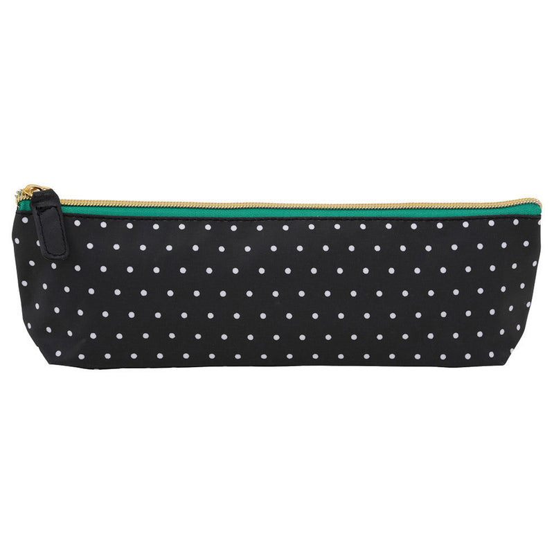 See Jane Work® Pencil Pouch, Black and White Dot - see-jane-work
