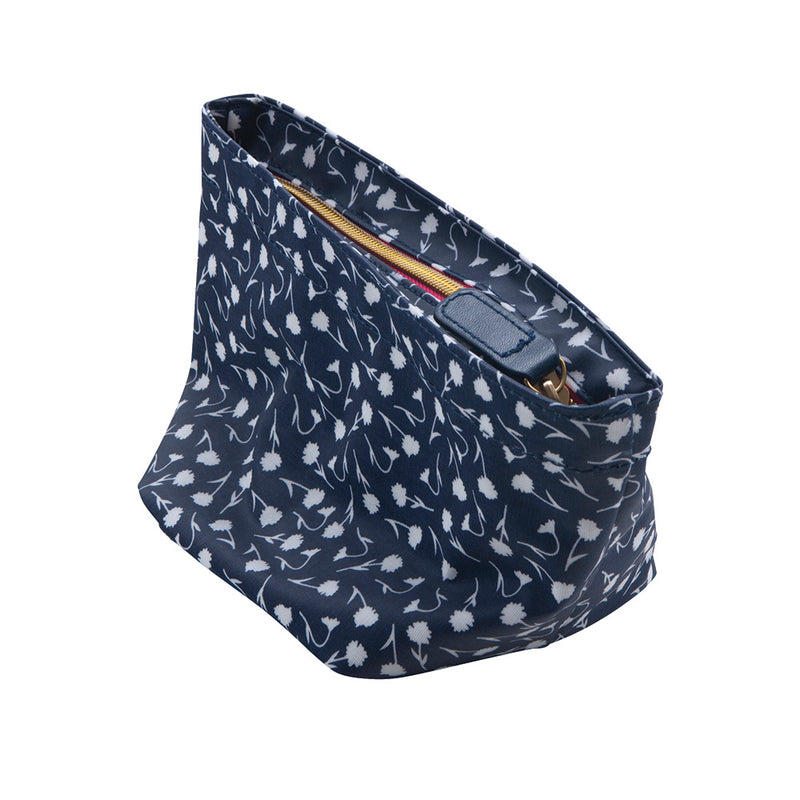 See Jane Work® Flat Bottom Pouch, Navy Floral - see-jane-work