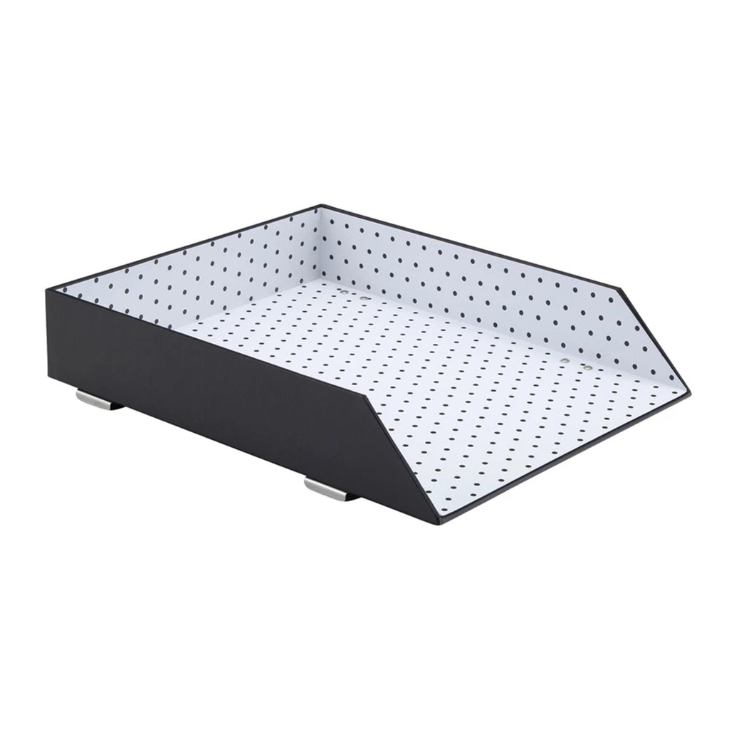 See Jane Work® Letter Tray, Black Dot - see-jane-work