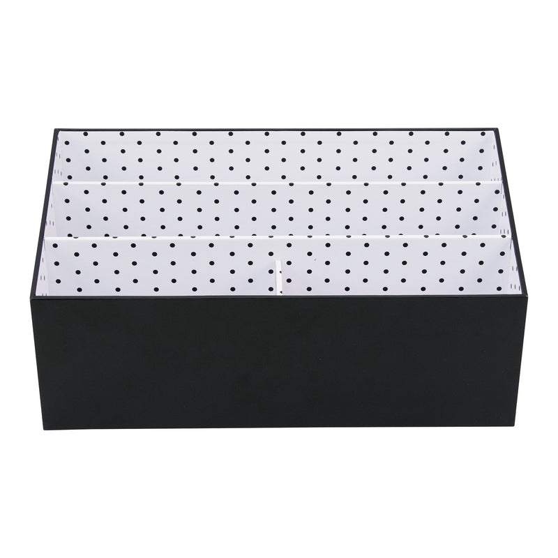 See Jane Work® Desktop Organizer, Black Dot - see-jane-work